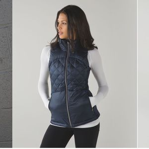 Lululemon Down for a Run Vest Navy